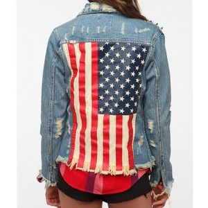 UNIF American Flag Jean Jacket